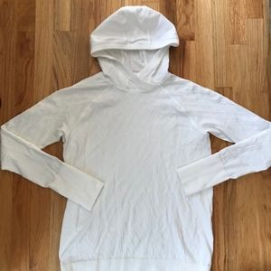 Lululemon Size 10 White Restless Hooded Pullover